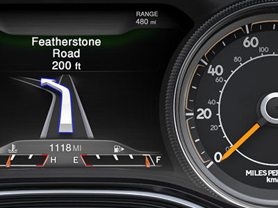 2014 Jeep Cherokee Personalized Instrument Cluster